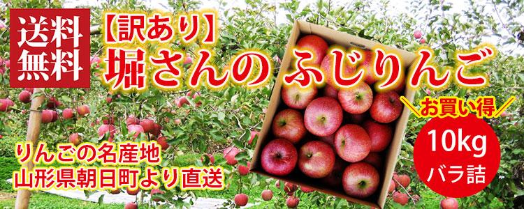 堀さんの【訳あり】ふじりんご